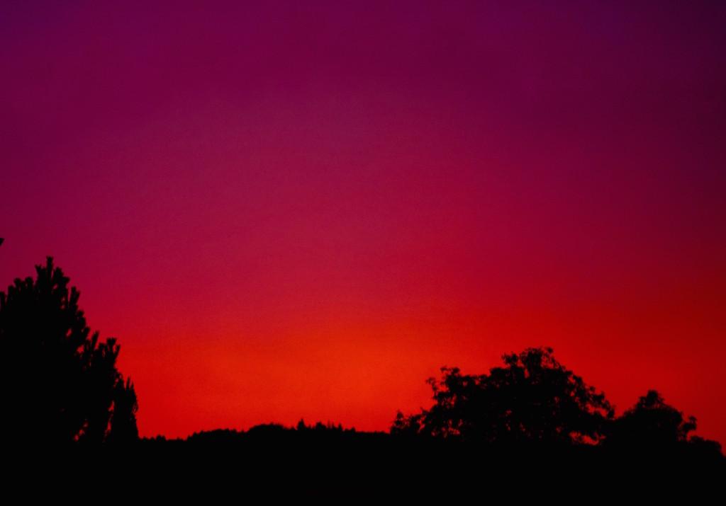 Die aussergewöhnlichste Himmelsfärbung die ich je gesehen habe