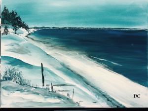 Ostsee Acryl auf Leinwand 30x40