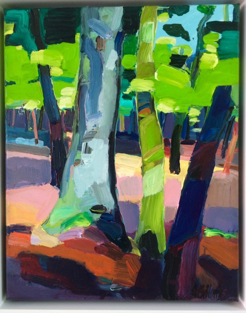 """Wald Impression ausgestellt auf der """"Art 3F"""" in Paris 2015"""