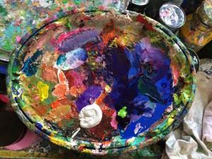 Eine Malerpalette
