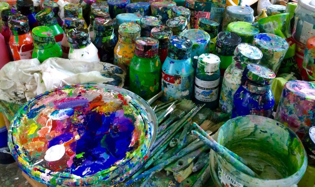 eine malerische Variation von Acryl - Farben
